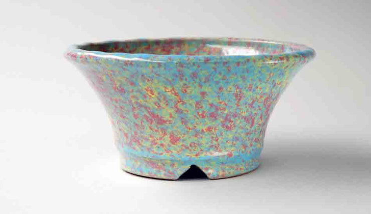 Shuuhou Round Bonsai Pot in Yellow, Pink & Skyblue Color ++ Shipping Free!