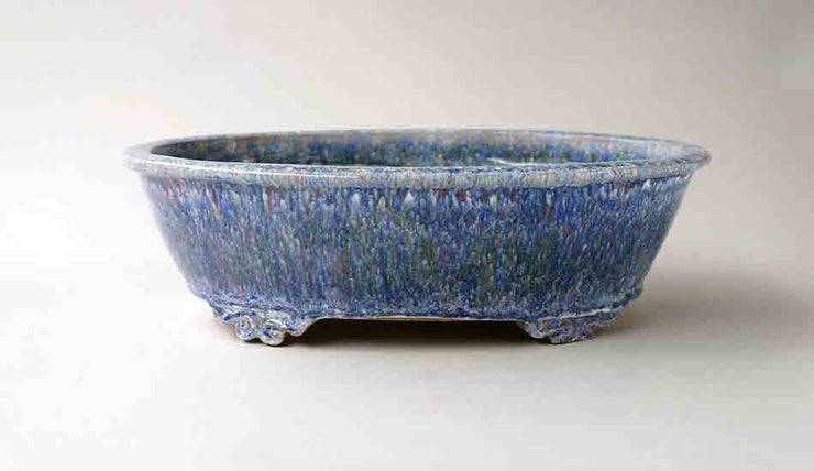 "Oval Bonsai Pot in Pastel Color by Shuuhou10.8""(27.5cm)+++Shipping Free!"
