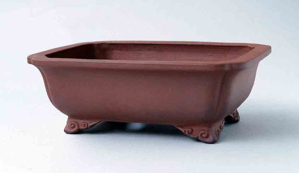 Eimei Unglazed Rectangle Bonsai Pot in Udei 6.8 Inch +++Shipping Free!!!