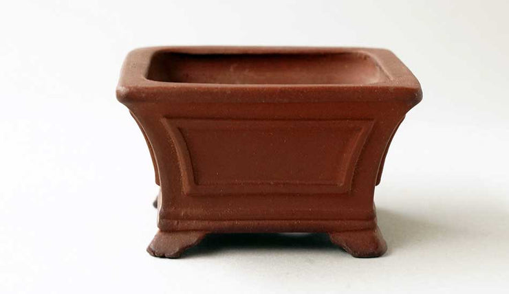 Eimei Unglazed Square Bonsai Pot+++Shipping Free