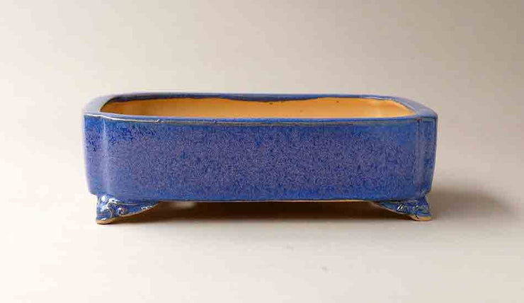 Eimei Rectangle Purple Bonsai Pot with Corner Cutting 7,5 Inch +++Shipping Free!
