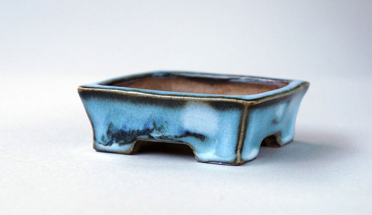 "Gassan Bonsai Pot with the Moon Painting 3.2""(8.3cm)+++Shipping Free!"