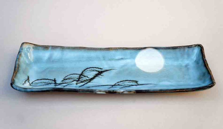 "Rectangle Dish with the Moon by Gassan 12"" (31cm) +++Shipping Free"