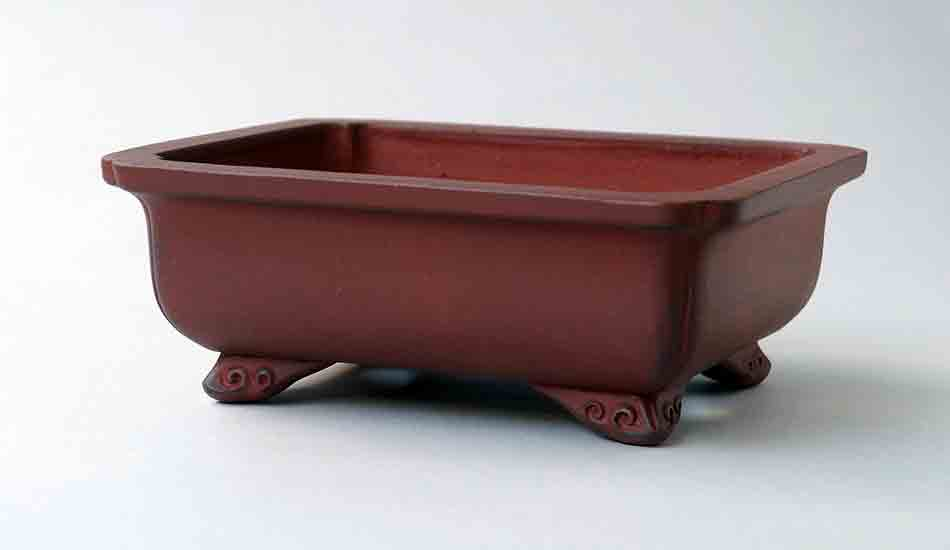"Ikko Unglazed Rectangle Bonsai Pot 6.9""(17.6cm)"