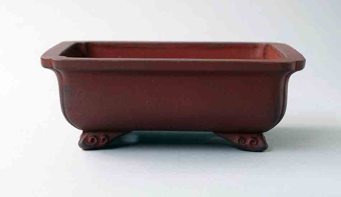Ikko Unglazed Rectangle Bonsai Pot 6.9