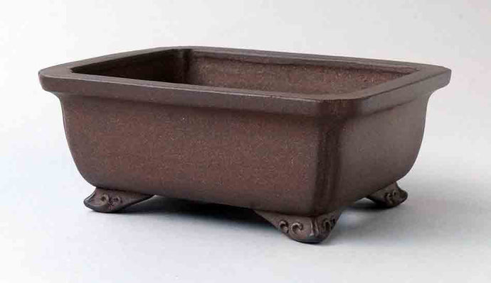 IKKO Udei Unglazed Rectangle Bonsai Pot 6.1