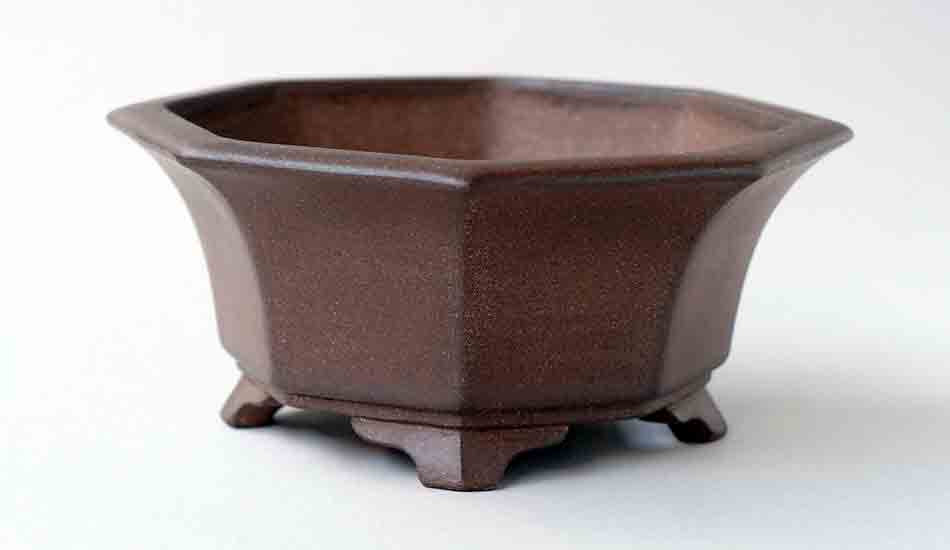 "IKKO Unglazed Octagonal Bonsai Pot 5.7""(14.5cm)"