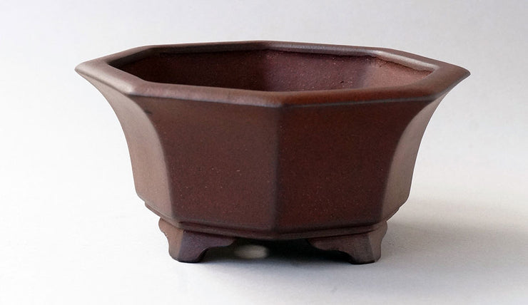 "IKKO Unglazed Octagonal Bonsai Pot 5.5""(14cm)"