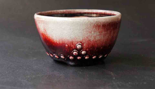Juko Round Bonsai Pot in Sinsya Glaze +++Shipping Free!