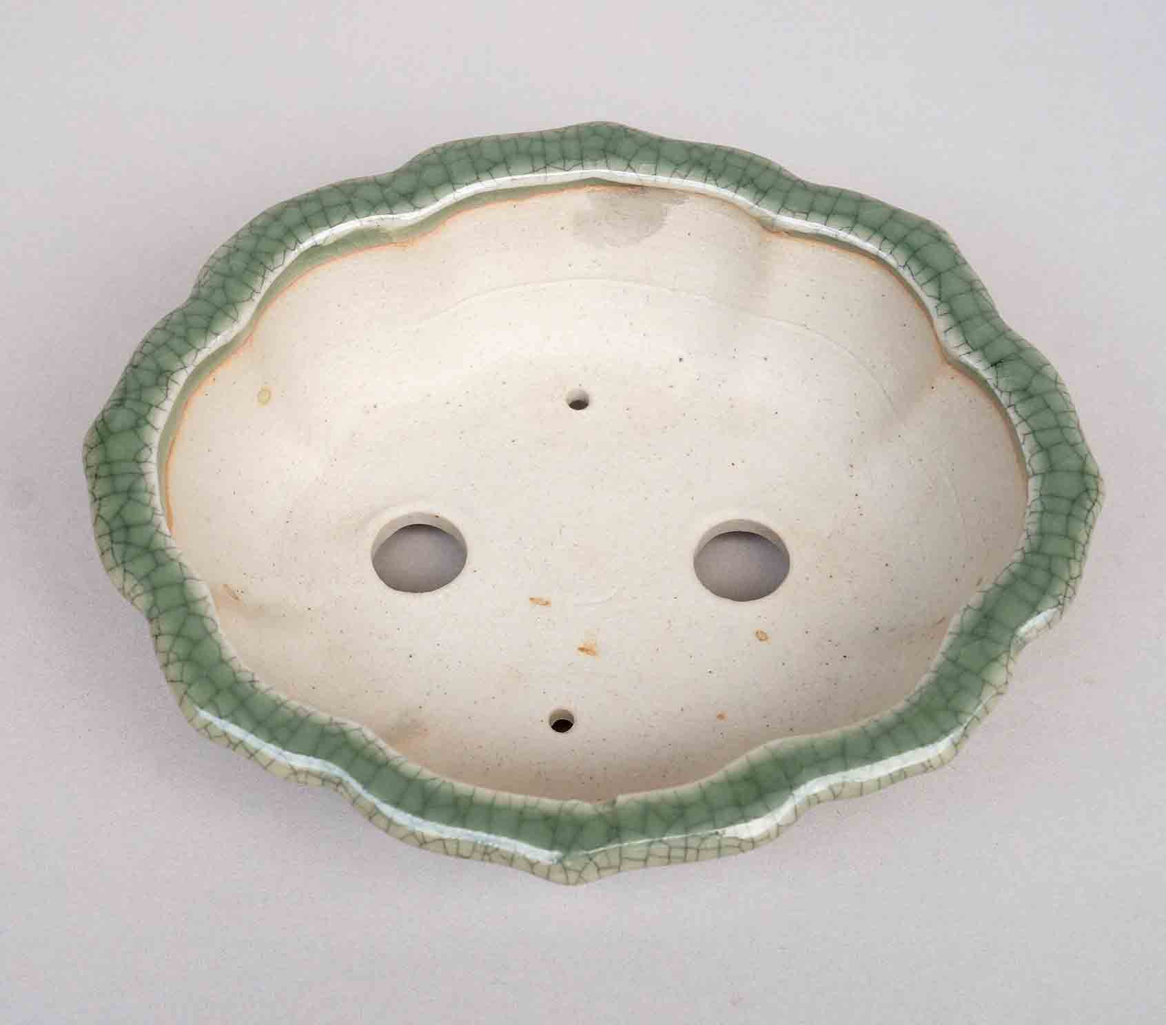 Lotus Bonsai Pot in Celadon, 5.75-Inch +++Shipping Free!!!