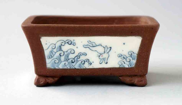 Ravit Over the Sea Bonsai Pot by Eimei and Mayu