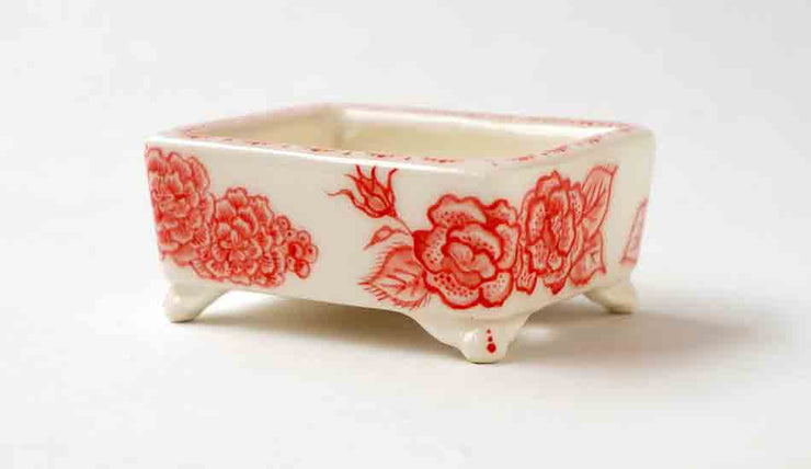 Mayu Miniature Bonsai Pot with Red Flowers & Butterfly+++Shipping Free