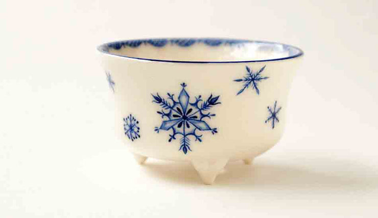 Mayu Round Bonsai Pot with Snow Crystal+++Shipping Free