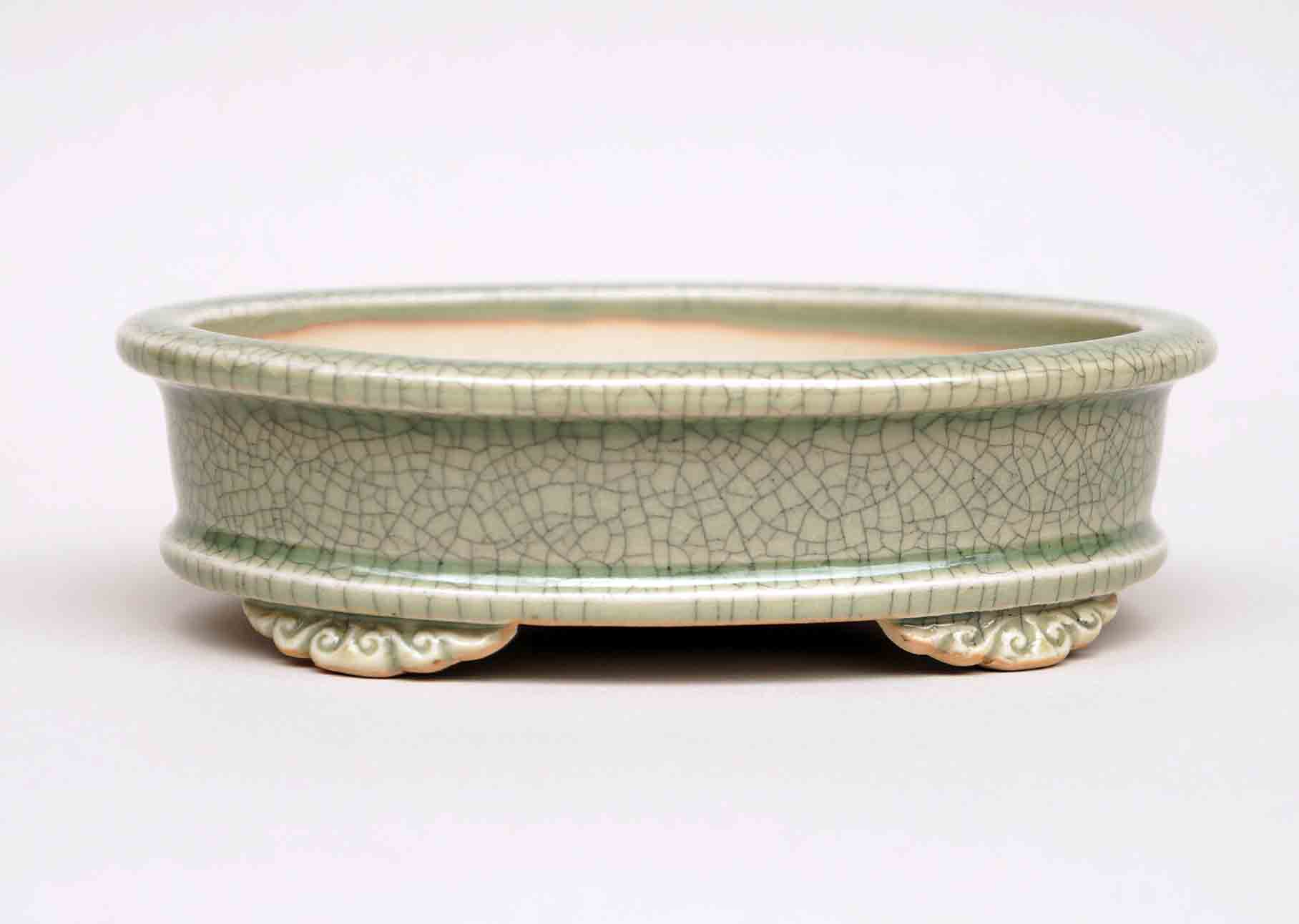 Oval Bonsai Pot in Celadon 5.5 Inch +++Shipping Free!!!