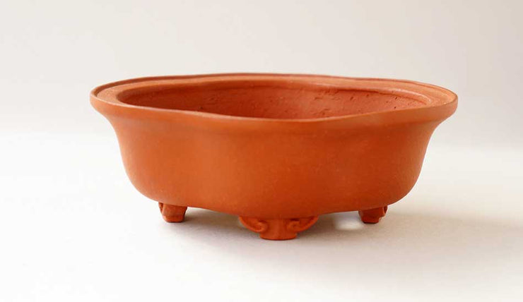 Mokko Shaped Unglazed Bonsai Pot by Reifo