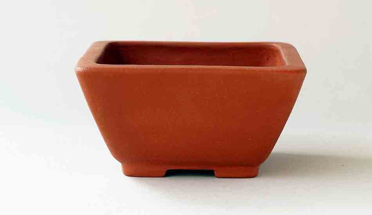 Unglazed Square Bonsai Pot by Reifo