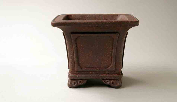 "Sampo Unglazed Square Bonsai Pot 5.5""(14cm)+++Shipping Free!"