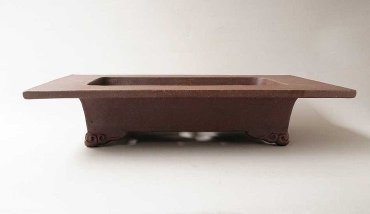 "Sampo Unglazed Rectangle Bonsai Pot with Wide Rim 14""(36cm)+++Shipping Free"