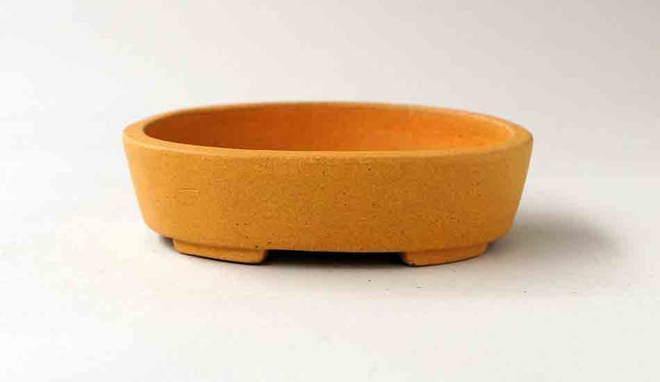 Unglazed Yellow Bonsai Pot by Sampo+++Shipping Free 0024
