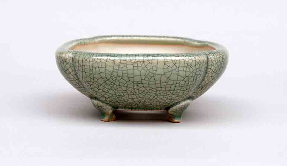 Square Mokko Bonsai Pot in Celadon, 4.5-Inch +++Shipping Free!!!