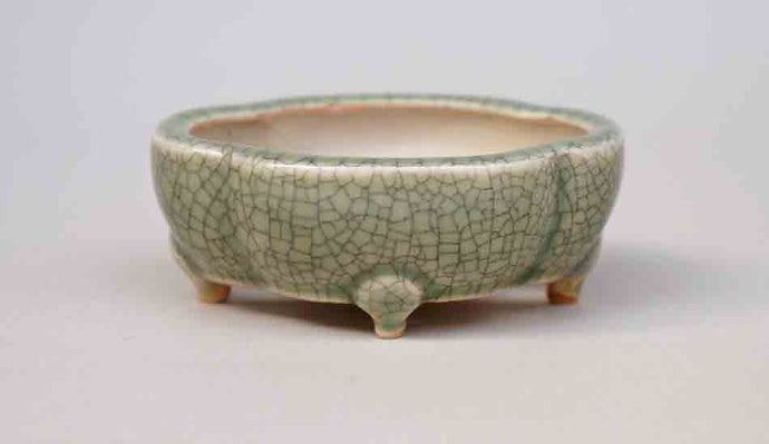 Mini Mokko Bonsai Pot in Celadon, 3.15-Inch +++Shipping Free!!!
