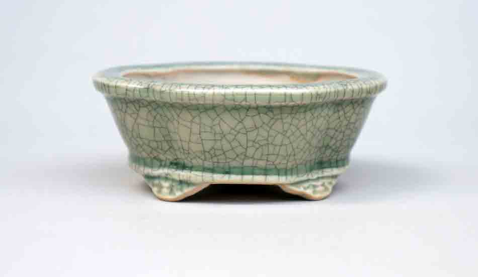Mini Cloud Feet Bonsai Pot in Celadon, 3.75-Inch +++Shipping Free!!!