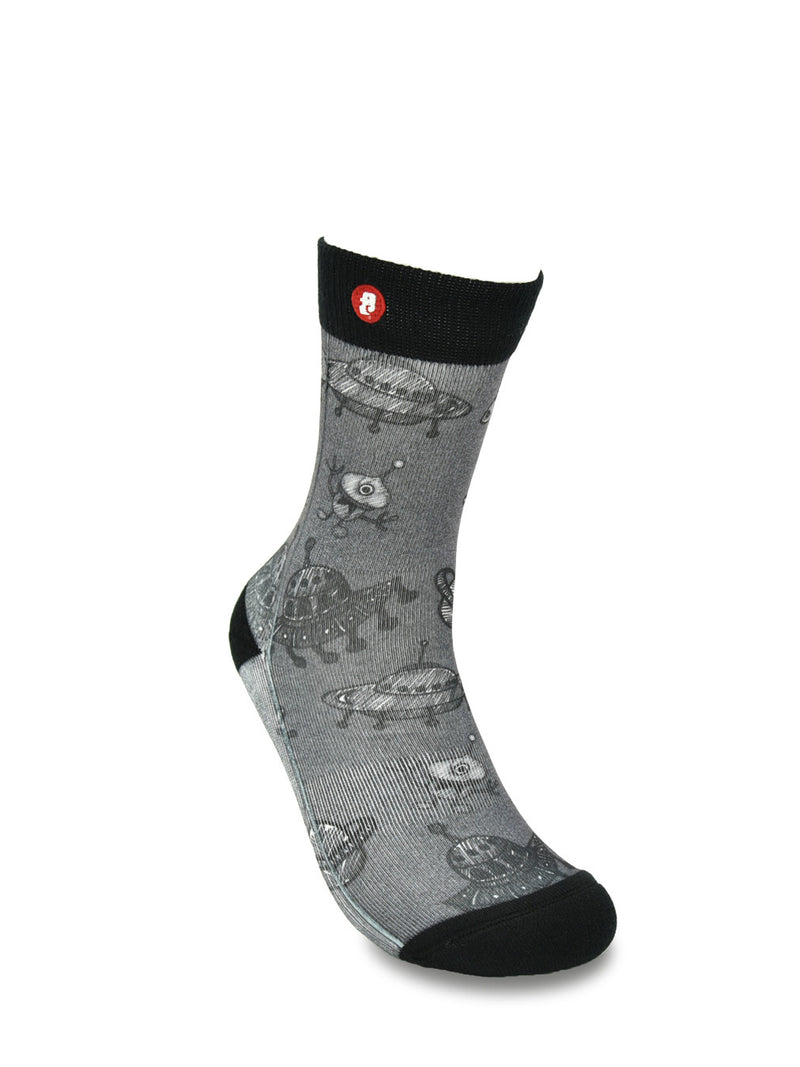 Mens E.t Mono Novelty Crew Socks