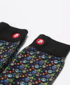 Mens Skull Dots Black Novelty Crew Socks