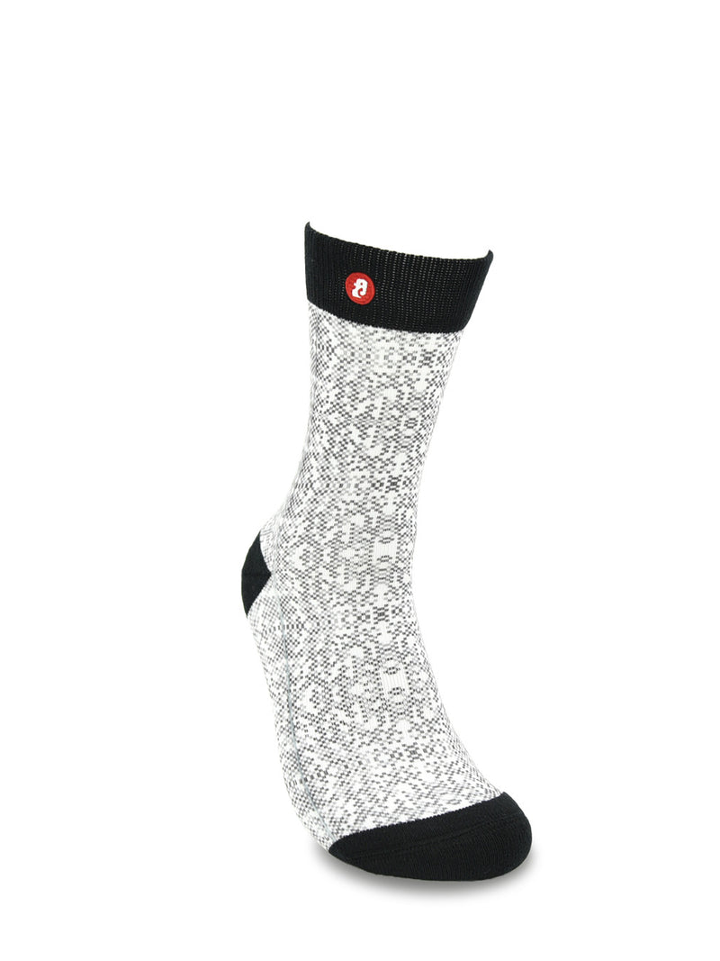Men's Pigment Black Cool Crew Fun Dress Socks