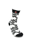 Mens Heart Wave Cool Crew Fun Dress Socks