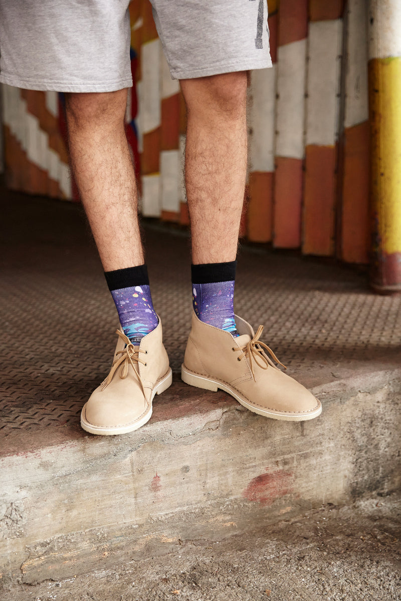 Mens Love and Peace Crew Socks