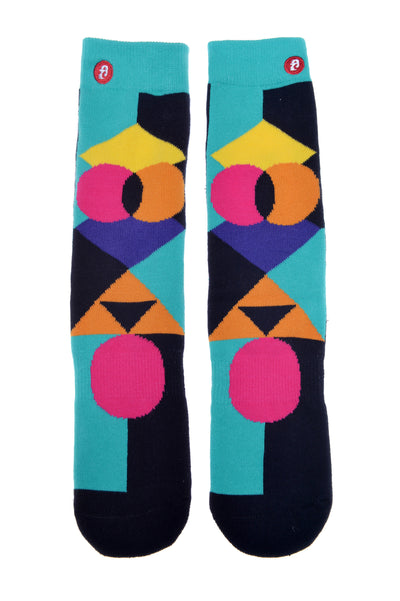 Mens Geometric Pop. Green Christmas Stockings