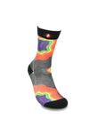 Mens Rainbow Contour Line Fashion Crew Socks