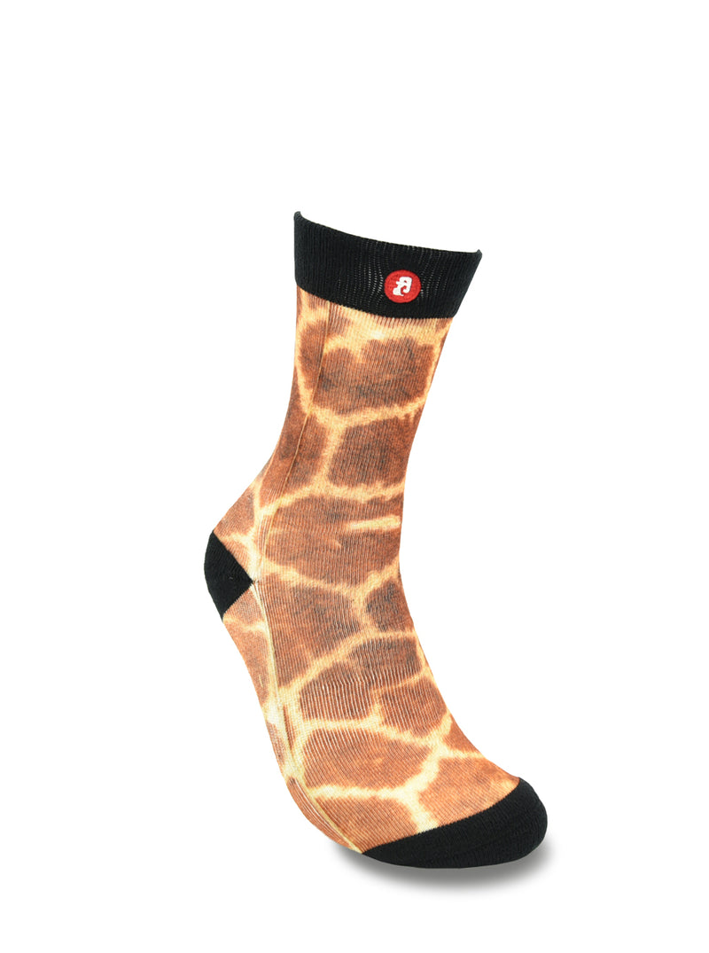 Mens Giraffe Novelty Crew Socks