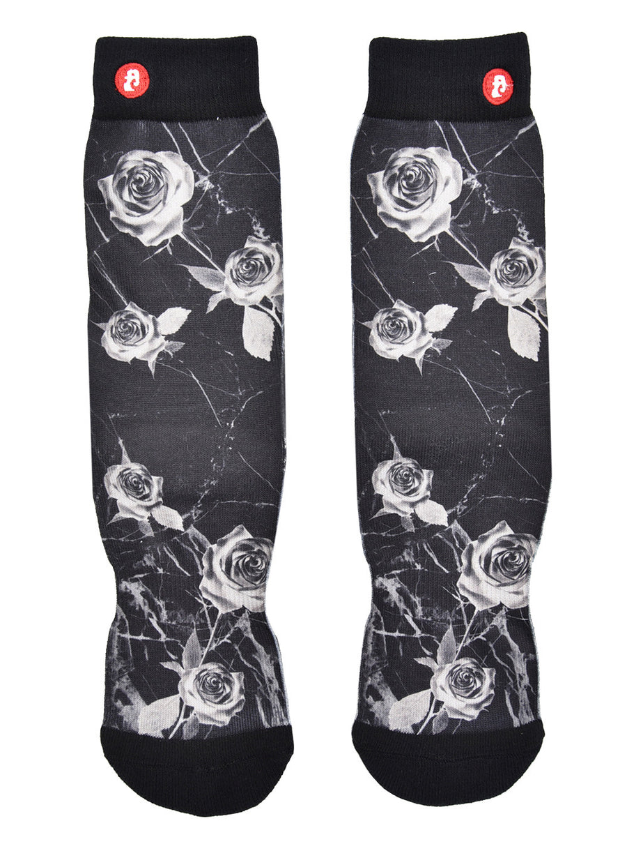 Mens Inverted Rose Crew Socks