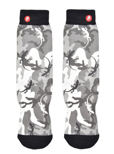 Mens Lizard Grey Camouflage Crew Socks