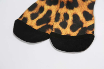 Mens Leopard Crew Socks