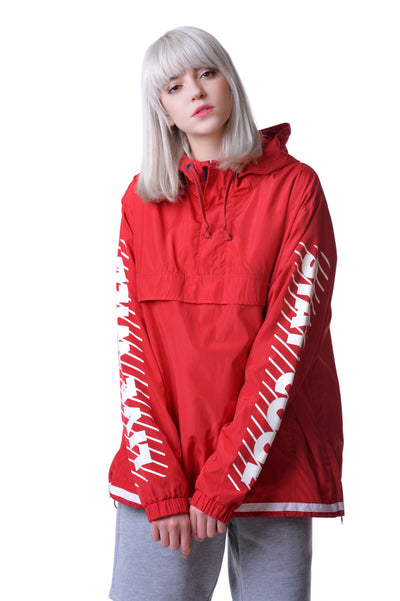 Fools Day Slogan Printed Sleeve Pullover Windbreaker (Women)