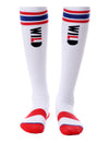 FOOL'S DAY Wild & Cool. Red Knee High Socks