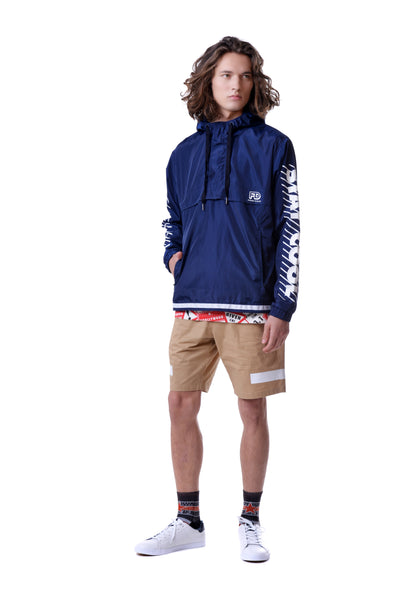 Fools Day Slogan Printed Sleeve Pullover Windbreaker (Men)