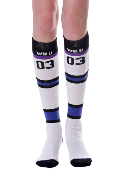 FOOL'S DAY Sport 03. Blue Knee High Socks