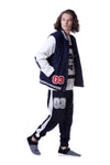 Fools Day Varsity Fd 03 Badge With Lwc Embroidery Bomber Jacket (Men)
