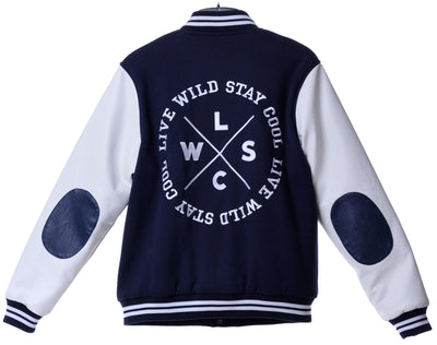 Fools Day Varsity Fd 03 Badge With Lwc Embroidery Bomber Jacket (Women)