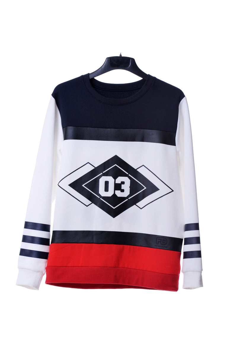 Fool's Day Cool & Wild 03 Sport Crew Neck Sweater (Women) - Fool's Day Fashion