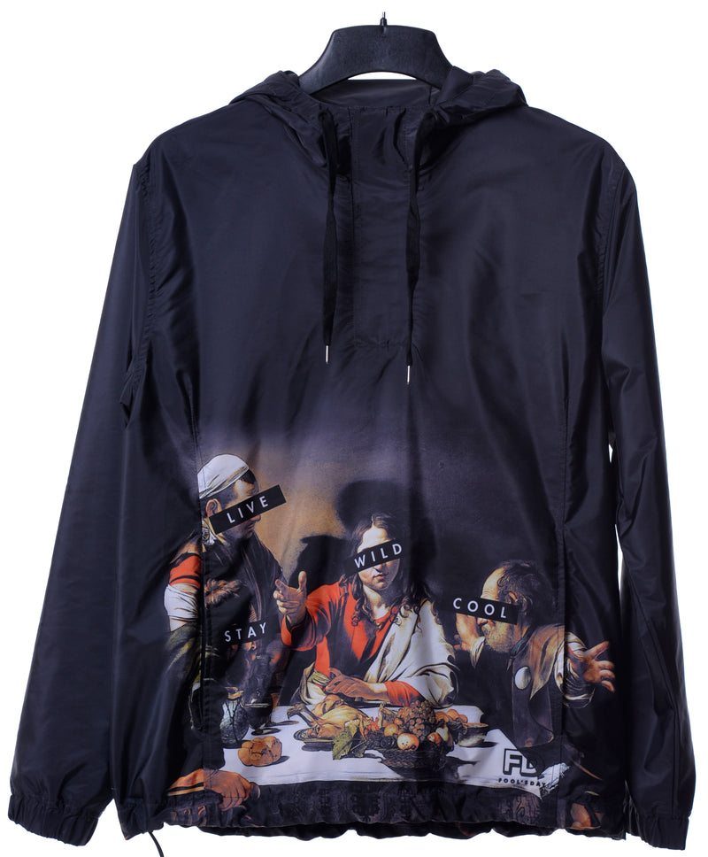 Fool's Day Dinning Print Pullover Windbreaker (Men)