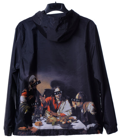 Fools Day Dinning Print Pullover Windbreaker (Women)