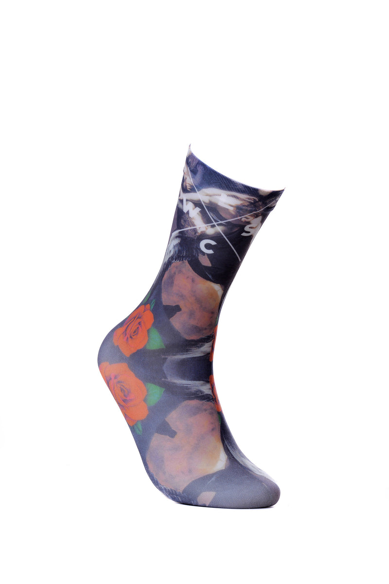 Mens Works Of Mercy. Sheer Fun Dress Socks Crew