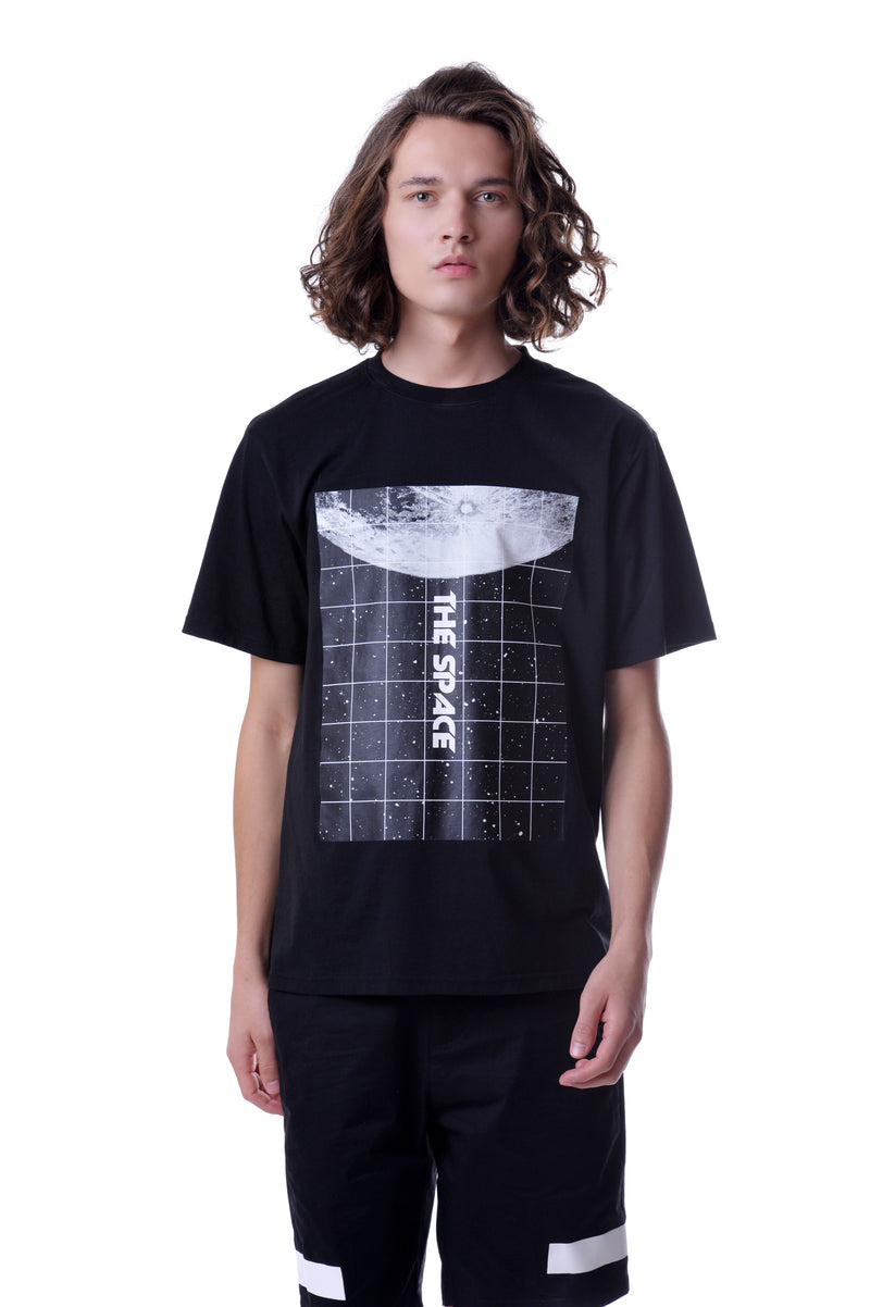 Mens Space Box Print Tee