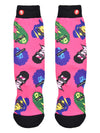 Mens The Icons Crew Novelty Funny Socks