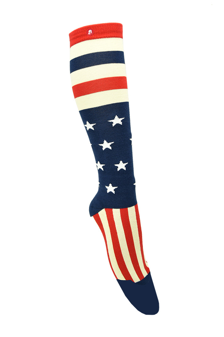 Men/ Women's Star Stripes Kh Knee High Socks